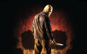 Картинка skull, mystery, movie, evil, dagger, leather, killer, film, cinema, hood, man, gloves, The Town that …