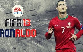 Картинка игра, Cristiano Ronaldo, португалия, фифа 13