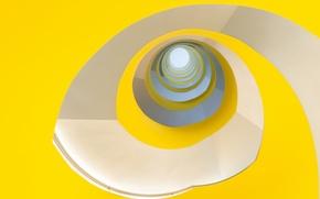 Картинка линии, краски, спираль, лестница, объем