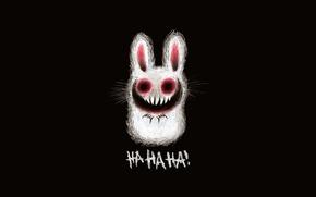 Обои рисунок, заяц, смех, зубы, зловещий заяц