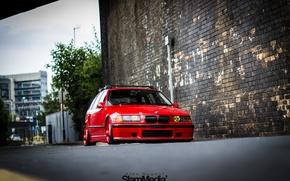Картинка bmw, red, stance, e36, Touring