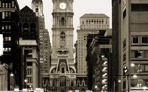 Картинка ночь, город, ретро