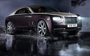 Картинка Rolls-Royce, роскошь, свет, роллс-ройс, авто, Wraith, фары
