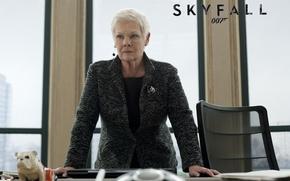 Картинка фильм, кабинет, 007, Skyfall, Judi Dench