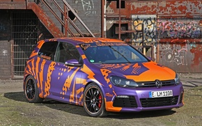Картинка Volkswagen, Purple, Racing, Golf, 2014, Cam, Shaft, Haiopai