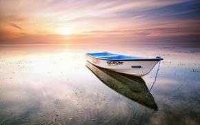 Обои floating alone, karang beach, sanur, bali, indonesia