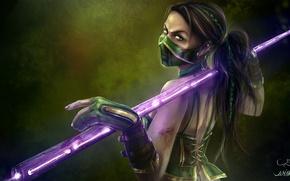 Картинка взгляд, игра, арт, костюм, Mortal Kombat, Джейд, Jade