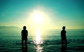 Обои море, волны, солнце, обои