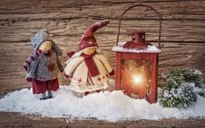 Картинка снег, фонарь, Новый год, new year, Игрушки, snow, toys, merry christmas, reindeer, lantern, северный олень, …