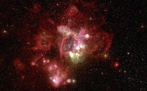 Картинка туманность, Хаббл, красная, телескоп