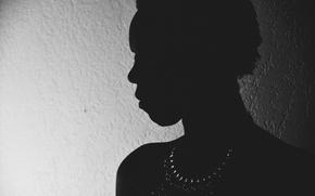 Картинка girl, minimalism, silhouette