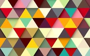 Обои colors, фон, abstract, colorful, треугольники, абстракция, background