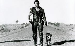 Картинка дорога, собака, арт, постапокалиптика, Mel Gibson, Воин дороги, Мел Гибсон, Mad Max 2, Безумный Макс …