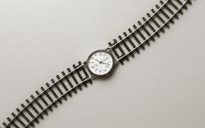 Обои дорога, время, часы