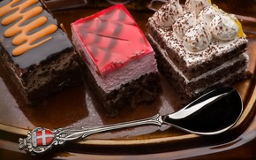 Картинка белый, красный, шоколад, вкус, коричневый, крем, тортик, мармелад, суфле, сладкий