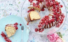 Картинка еда, десерт, смородина, выпечка, глазурь