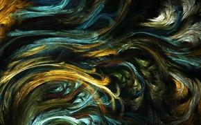 Обои фрактальный узор, волны, линии