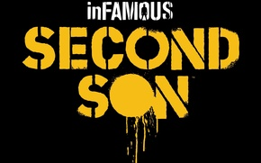 Картинка логотип, logo, inFamous: Second Son, Sucker Punch Productions, PS4, Sony Computer Entertainment