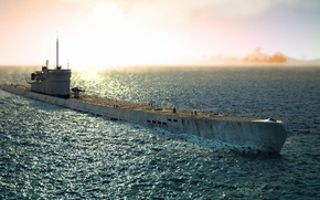 Картинка germany, submarine, sunny, u-boat