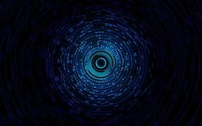 Картинка свет, круги, цвет, тоннель