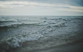 Картинка море, волны, горизонт