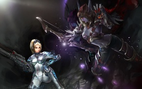 Картинка starcraft, Warcraft, Nova, Sylvanas, Heroes of the Storm, nova terra, Banshee Queen, Dominion Ghost