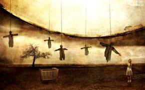 Картинка дерево, сюрреализм, Girl, девочка, Moon, Metal, Doom, Novembers Doom