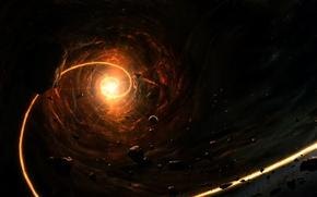 Обои звезда, Планеты, Метеориты