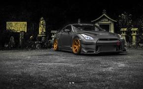 Картинка Nissan, GT-R, Carbon, Overtake