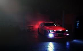 Картинка красный, бмв, BMW, red, блик, F10, Sedan, 5 Series
