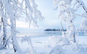 Обои kakisa lake, northwest territories, canada, озеро какиса