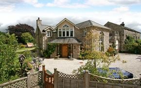 Картинка дом, забор, Англия, сад, Cumbria, Beetham