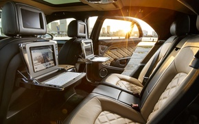 Картинка Bentley, Speed, Side, Back, Interior, (2014), Mulsanne