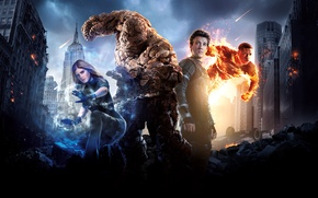 Обои Invisible, Mr., Boys, The, Couds, Towers, Miles Teller, Film, Team, Reed Richards, Fantastic, Wallpaper, 20th ...