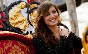 Картинка улыбка, настроение, модель, актриса, Италия, красавица, Венеция, знаменитость, beautiful, Berenice Marlohe, Беренис Марло, французская, celebrity.