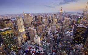 Картинка небоскреб, смотровая площадка, люди, дома, панорама, Нью-Йорк, США