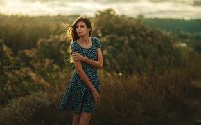 Картинка Girl, Nature, Legs, Beauty, Eyes, View, Face, Valeria, Dress