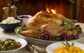 Картинка стол, еда, курица, food, grill, блюда, table, гриль, dishes, Chicken