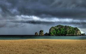 Картинка море, гроза, пляж, остров