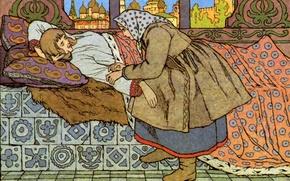 Картинка Билибин Иван Яковлевич, Девица и Финист, Ясен-Сокол, (1876-1942)