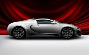 Обои авто, Концепт от Bugatti, накидка, красная