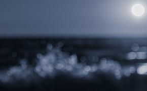 Картинка waves, moon, sea, ocean, moonlight