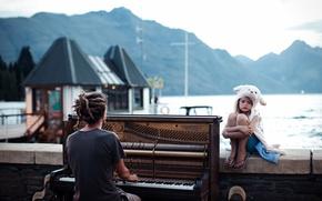 Картинка Закат, New Zealand, Sunset, Queenstown, Пианино, Piano, National, Geographic, Winner