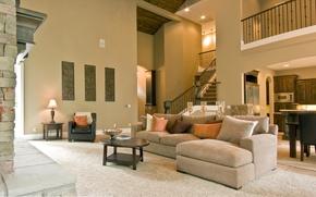 Картинка дом, стиль, мебель, интерьер, обстановка, ковры