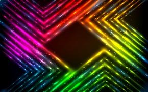 Картинка lights, vector, colors, abstract, rainbow, background