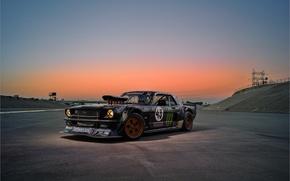 Картинка Mustang, Ford, Sky, Monster, 1965, Sunset, RTR, Block, Ken, Gymkhana, Energy, Rear, Hoonicorn, SEVEN, 845 …