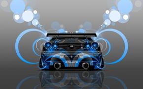 Картинка Тони Кохан, ГТР, Абстракт, Tony Kokhan, Аэрография, Скайлайн, Blue, Aerography, Голубой, GTR, el Tony Cars, ...