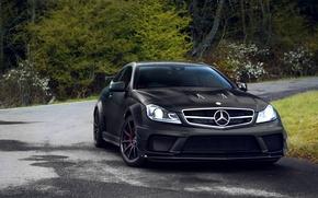 Картинка тюнинг, купе, мерседес, AMG, black series, mercedes c63