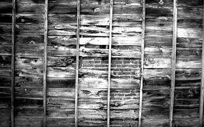 Картинка wall, wood, bricks, pattern