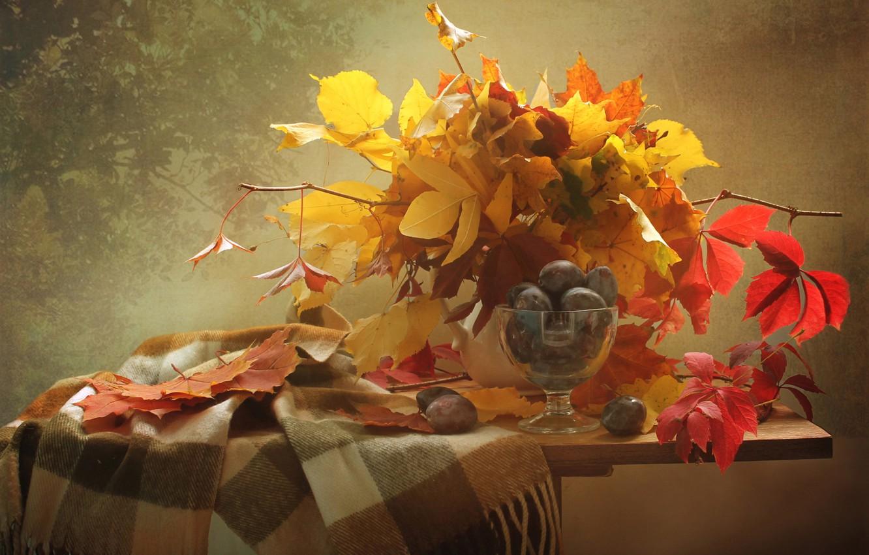 картинки на рабочий стол осень в вазе них детей